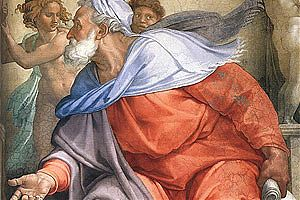 [Der Prophet Ezechiel, Michelangelo, Fresko sixtinische Kapelle, 1510]