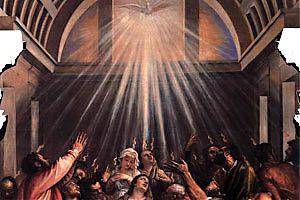 [Tizian (um 1476 bis 1576), Ausgießung des Heiligen Geistes]