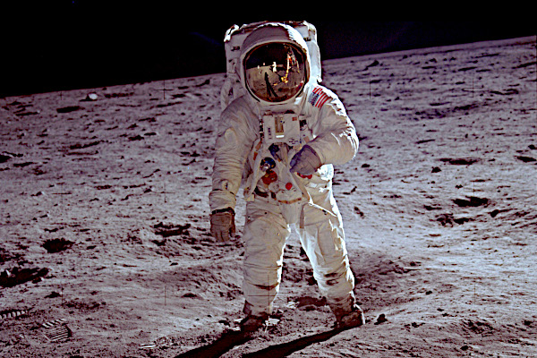 NASA, Apollo 11, 21. 7. 1969: Buzz Aldrin