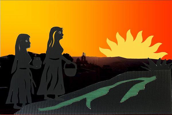 Ostern, Bild 1 – Die Frauen auf dem Weg